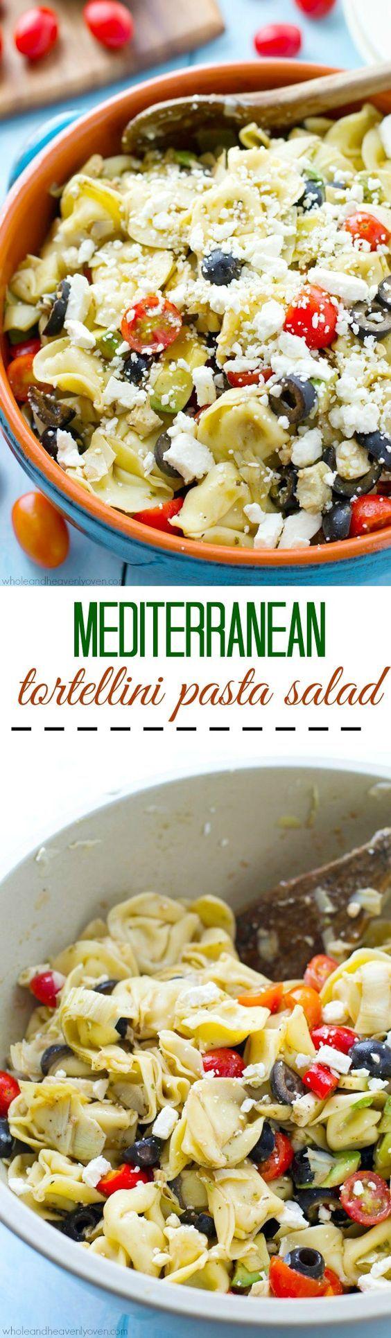 Mediterranean Tortellini Pasta Salad | Recipe