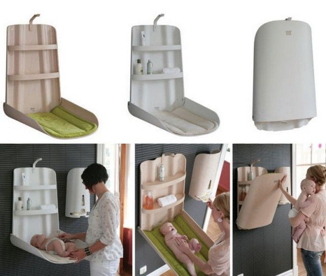 Cambiadores de bebes para espacios pequeños 2