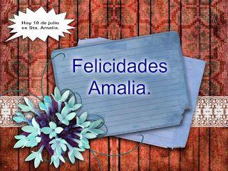 El rincón de Amalia: Felicidades Amalia