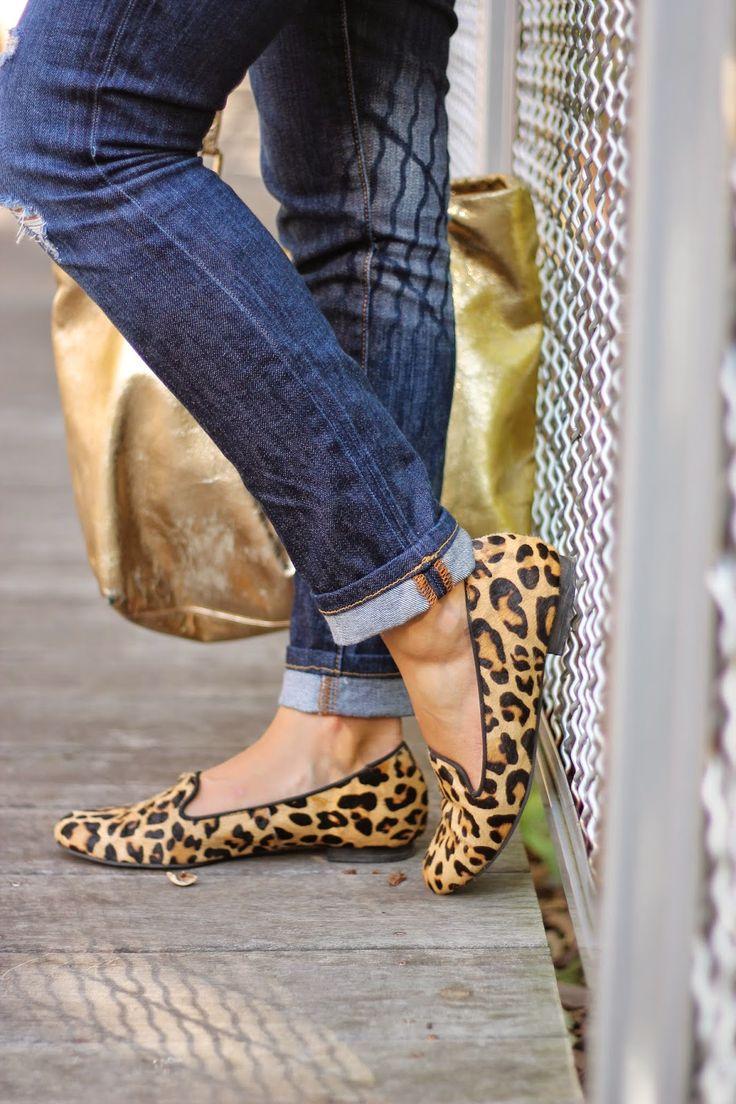 Liz Claiborne leopard flats
