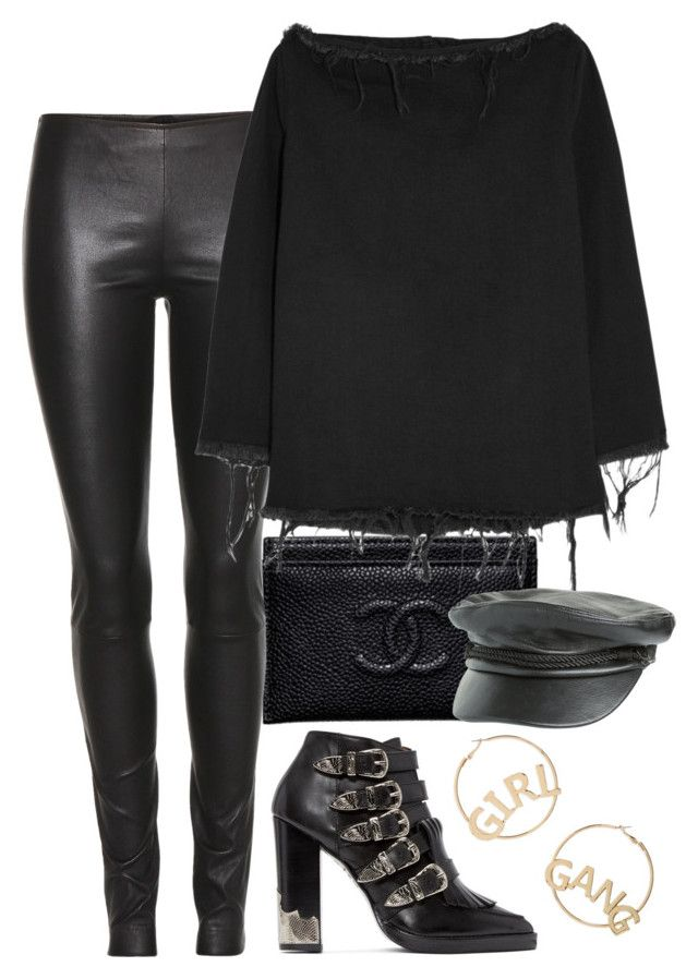 """""""when in doubt just go with BLACK"""" by artiola-fejza ❤ liked on Polyvore featuring Chanel, The Row, Toga, Marques'Almeida, Volcom and BP."""