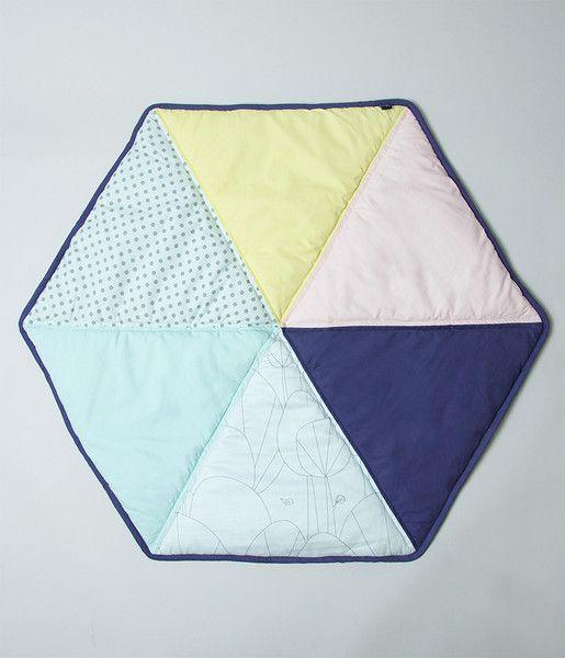 Leketeppe | hexagon | pastell