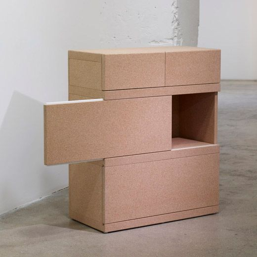 Cork 'Simple Boxes' 2009 by Martin Szekely