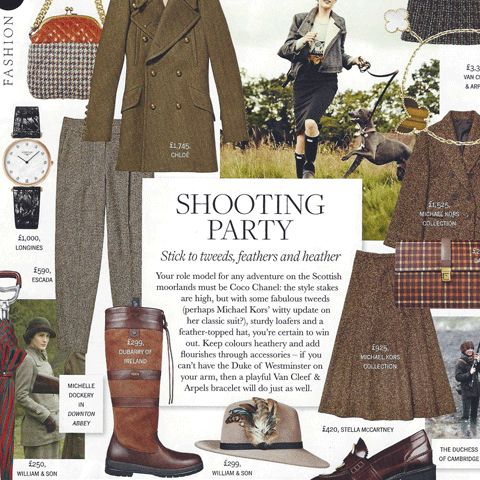 Town & Country Magazine's Shooting Party style guide featuring our Mink Festival Fedora (Winter 2015).