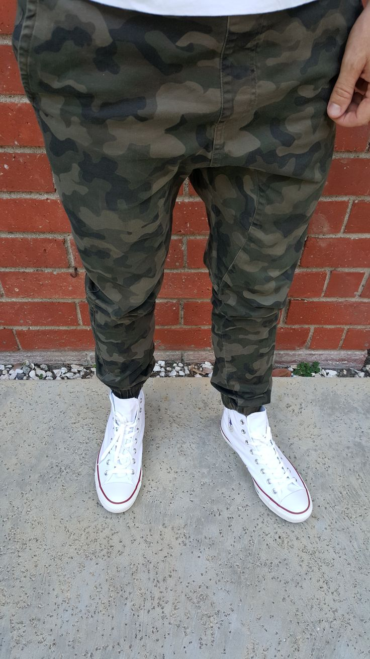Loving my Zanerobe Sureshot Camo Joggers. Pairs nicely with some white Chuck  Taylor All Star