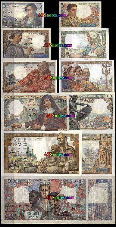 france money | World Paper Money Catalog and History