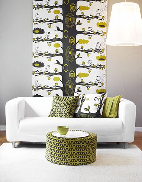 Olive Green Accent Wall Living Room Fantastic Contemporary Living