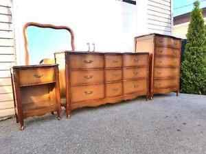 Ensemble  Vintage Shabby Chic Chambre à coucher Antique