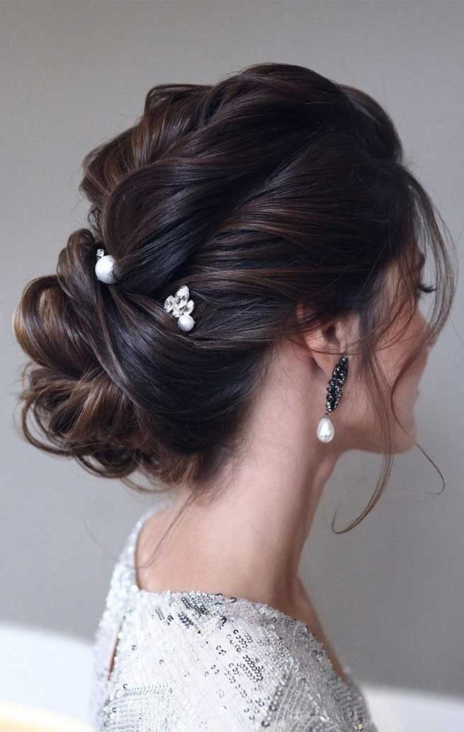 60 Gorgeous Wedding Hairstyles For Every Length In 2020 Up Dos For Medium Hair Medium Hair Styles Best Wedding Hairstyles