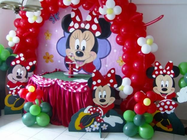 Minnie mouse birthday theme minnie mouse party supplies for Decoracion minnie mouse