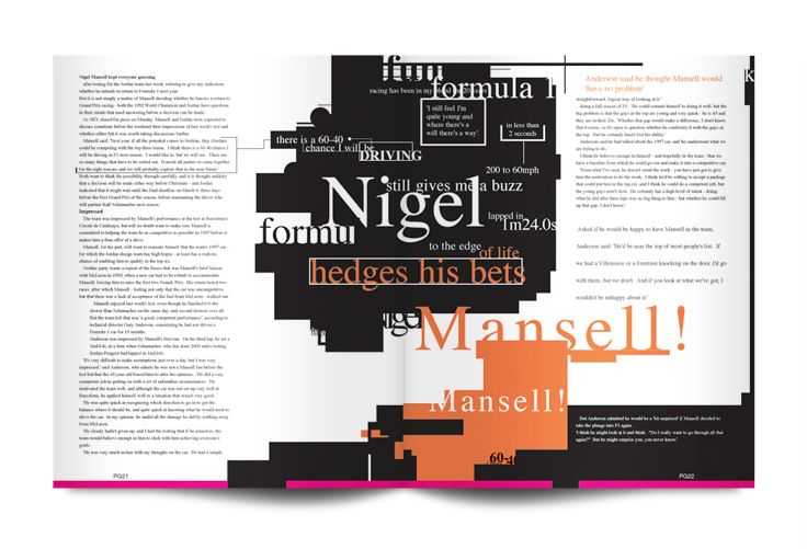 Typographical Concept Spread