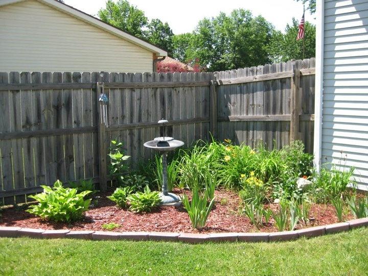 back yard corner garden