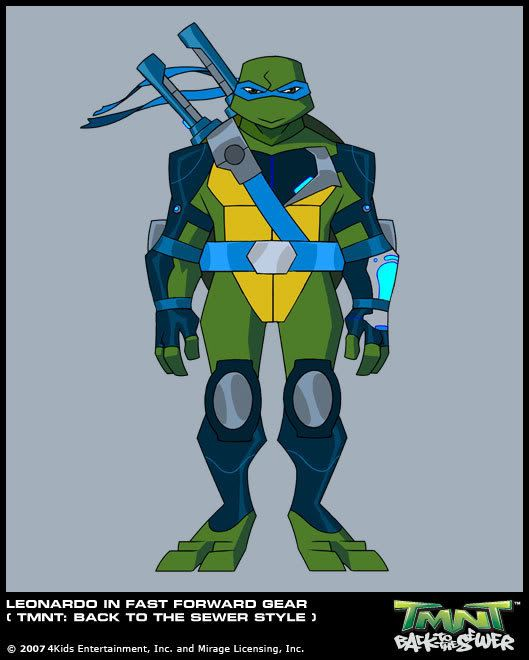 Leonardo in Fast Forward gear (BTTS style) production art ...