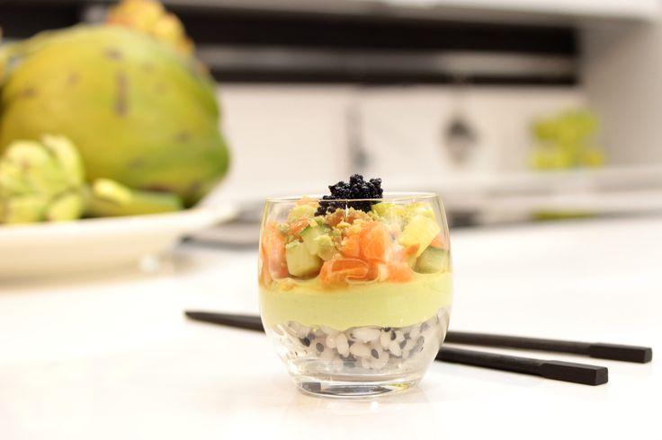 Amuse van sushi in een glaasje - Claudia's keukenspot !