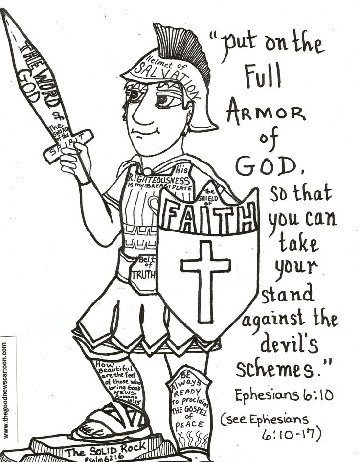 Put On The Full Armor Of God Printables Pictures To Pin On Armour Of God Coloring Page