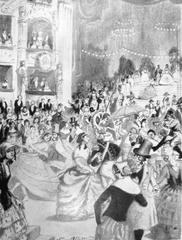 The Illustrated London news 1923 The Costume Ball as Paris knows it: A Gavarni affair by W.Ablett  Witch dressed and decoration of the Louis Phillippe and second empire period: the bal Gavarni  at the Paris Opera, named after a famous french 19-th-century caricaturist