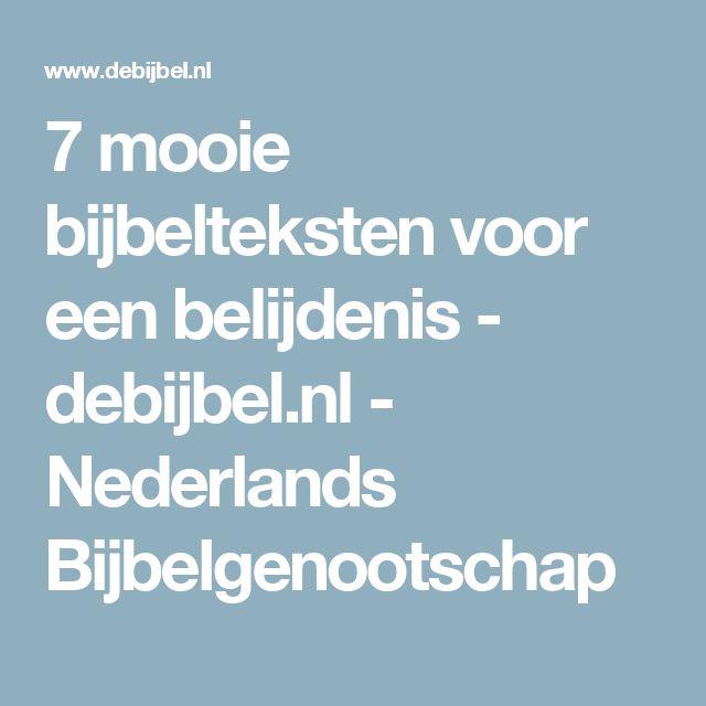 7 mooie bijbelteksten voor een belijdenis - debijbel.nl - Nederlands Bijbelgenootschap