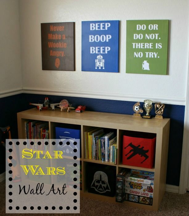 diy star wars wall art for kids room