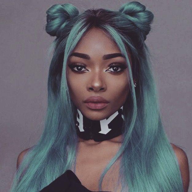 39 best dark skin pastel hair images on pinterest