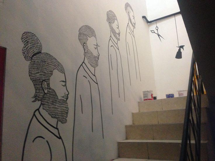 mural artwork barber bros jakarta Indonesia