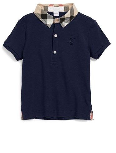 Burberry 'William' Cotton Polo (Baby Boys)