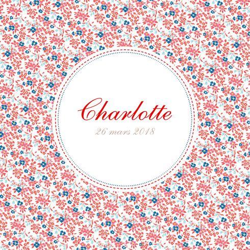 Faire part naissance Petit liberty (triptyque) by Tomoë pour www.fairepartnaissance.fr #birth #announcement #flowers #rosemood #original