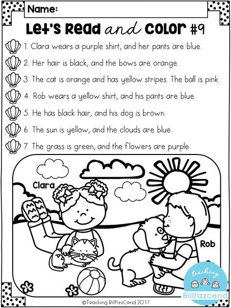 Free Read And Color Listening Comprehension These Are Super Duper Cute Read And Kindergarten Reading Reading Comprehension Activities Comprehension Activities Read and color comprehension worksheets