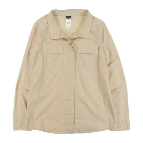 Worn Wear® W's L/S Chambray Shirt - Used, Chambray: Pale Khaki, Fall 2013, $40 || WornWear.com is an online store for used Patagonia clothing – helping clothes that sit idle in closets make their way back into the field, instead of the landfills. If you need a garment, you can buy used on WornWear.com (or new on Patagonia.com). If you are no longer using a piece of Patagonia clothing, trade it in at a Patagonia store and receive credit to put towards a used or new Patagonia product. Visit…