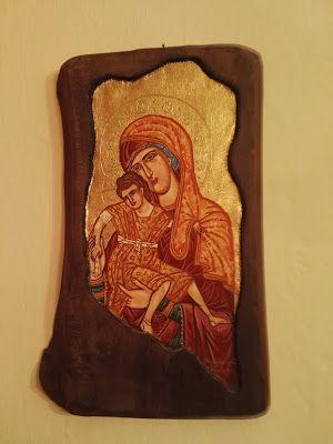 Βάλε χρώμα: Αγιογραφία σε ξύλο της Παναγίας