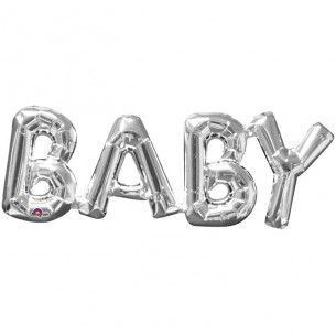 BABY Supershape Silver Foil balloon - Balloons - Baby Showers - Baby Party