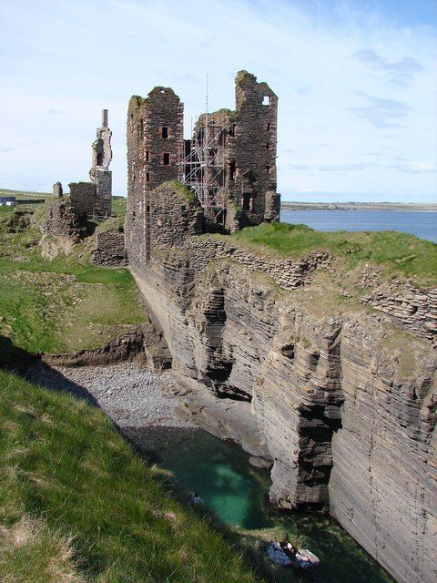 Sinclair Girnigoe Castle by John Proctor - 3 km from Wick Airport, Highland, Great Britain