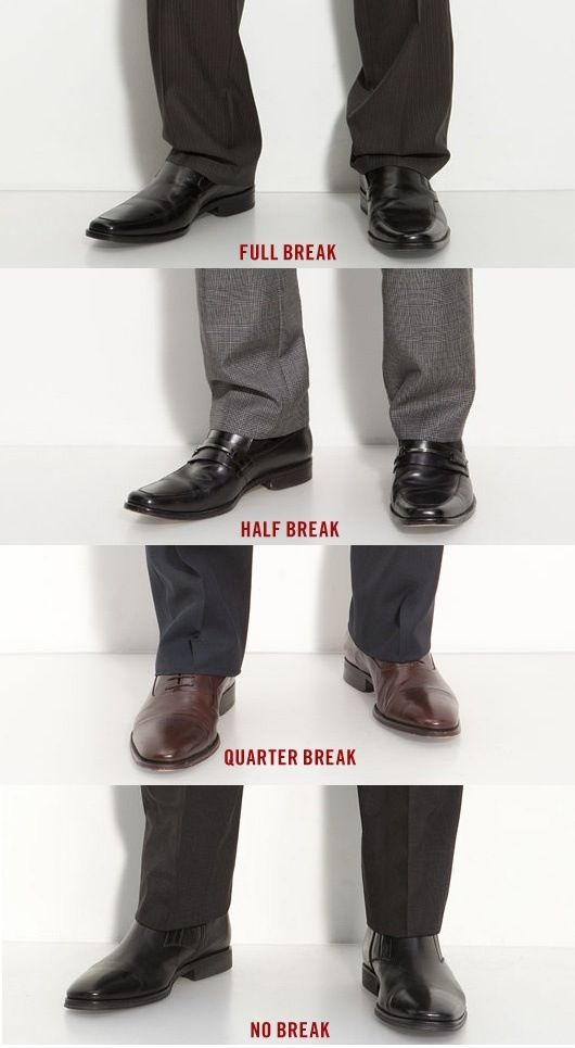 Different types of breaks for your pants