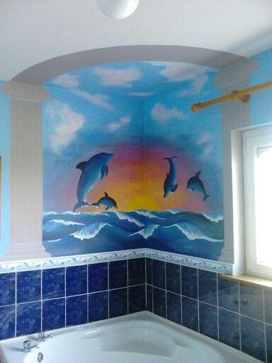 New bathroom mural