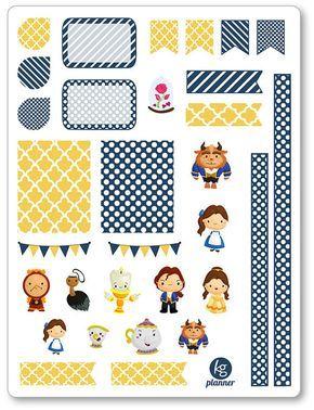 Beauty/Beast Decorating Kit / Weekly Spread Planner Stickers for Erin Condren Planner, Filofax, Plum Paper