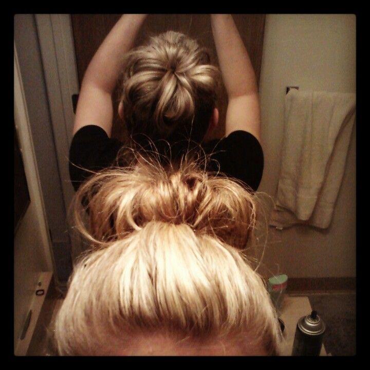 17 Best Ideas About Buns For Short Hair On Pinterest