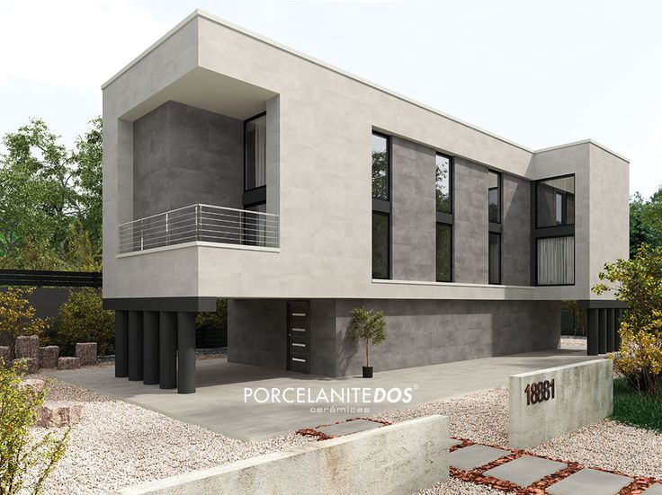 Facade made with 3030 collection with Perla, Gris and Ceniza series combination.