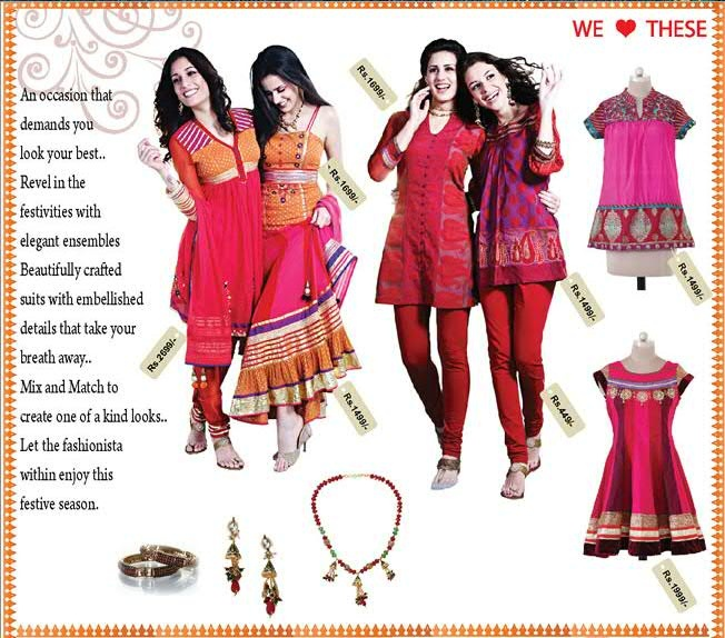 Shopping: Diwali Traditional Outfits by Globus, Discounts, Online Shopping with Globus and more ~ Shopping, Style and Us...