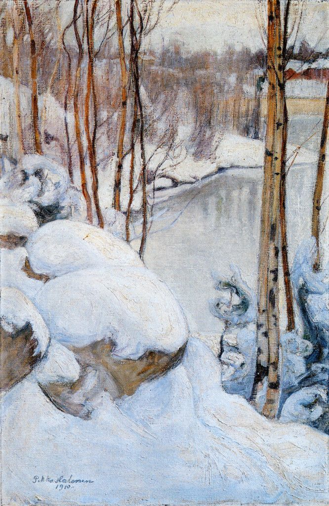 Pekka Halonen, Talvipäivä (Winter), 1910, The Life and Art of Pekka Halonen - http://www.alternativefinland.com/art-pekka-halonen/