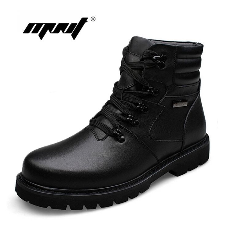 53.85$  Buy now - http://alic2a.shopchina.info/1/go.php?t=32418795852 - Plus Size men boots Warmest genuine leather snow boots,Handmade Brand Fashion style men winter shoes  #buymethat