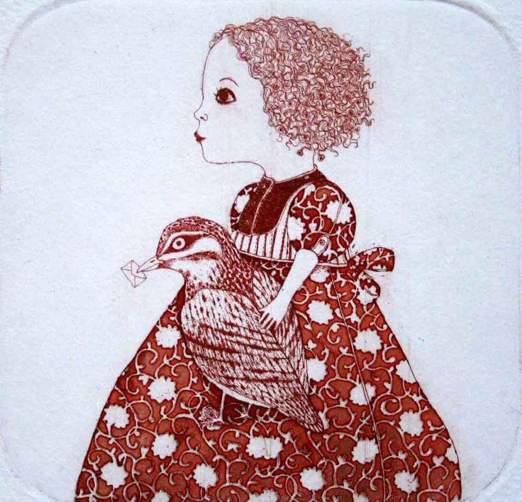 Etching / limited edition original etching printmaking /