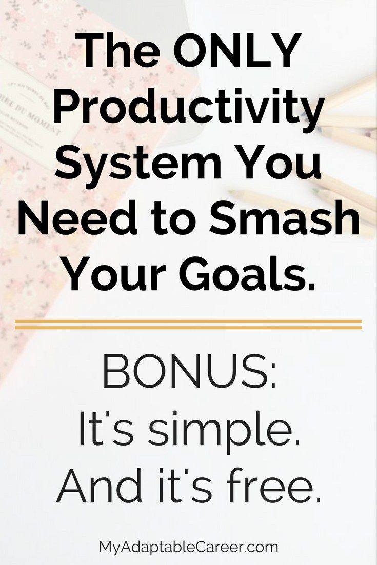 Here's a simple and free productivity system that can help you reach your goals faster! Time management tips, productivity tips for entrepreneurs and bloggers.