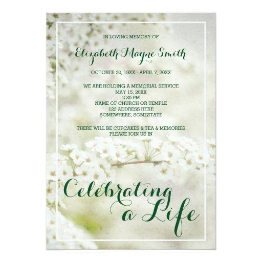 10 best Funeral Stationery images on Pinterest Cards, Envelopes - memorial service invitation wording