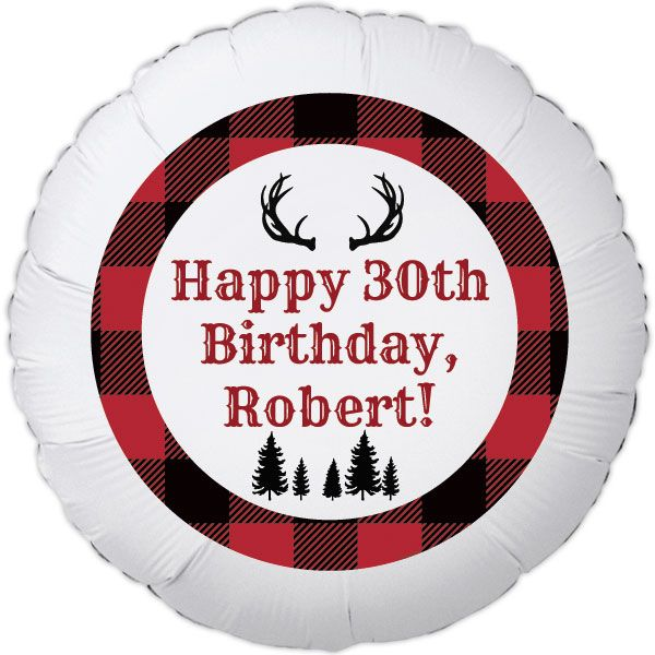 Buffalo Plaid Large Personalized Balloon