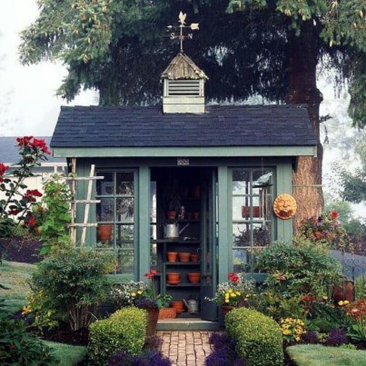 Cute garden shed gardening pinterest for Pretty garden sheds