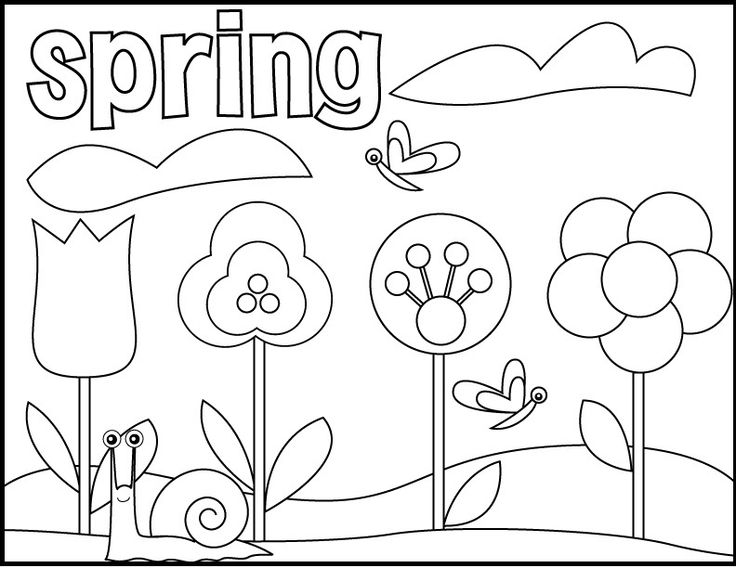 33 Best Spring Images On Pinterest Coloring Pictures For Kids Springtime Coloring Pages
