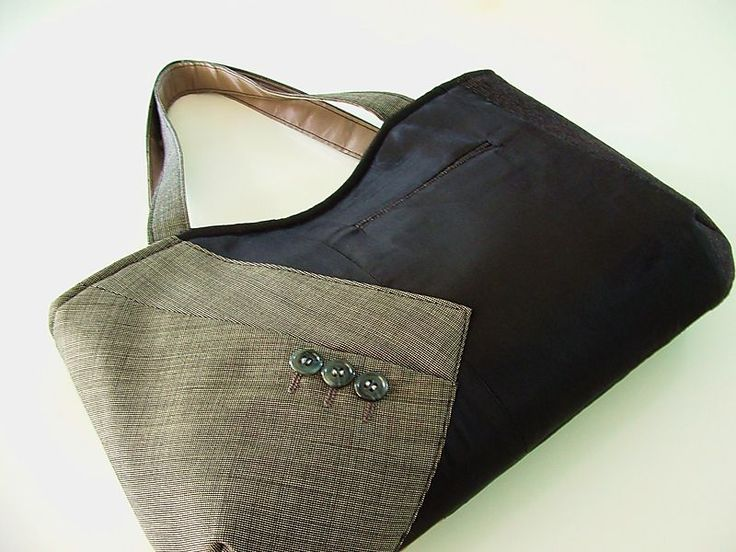hand made bags from MEN's Cast off SUITS! love the materials and the  tailored look they give! - women's purses, leather handbags for sale,  stylish handbags ...