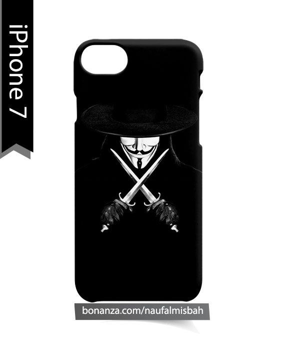 V For Vendetta Knives Hat iPhone 7 Case Cover Wrap Around