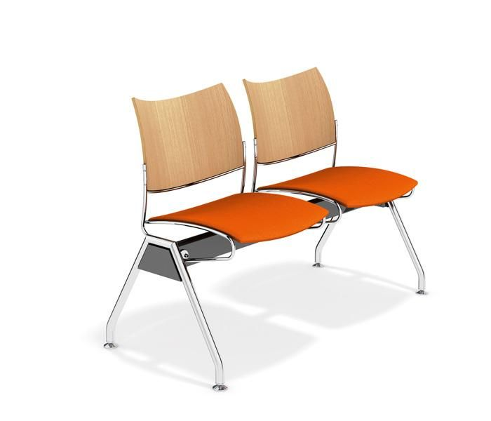 Curvy | UCI Beam seating, by Casala in The Netherlands. Designed by Sigurd Rothe. 2 seater, 3 seater and 4 seater beam. Can be set up in an angular formation using the optional table-top. uci.com.au