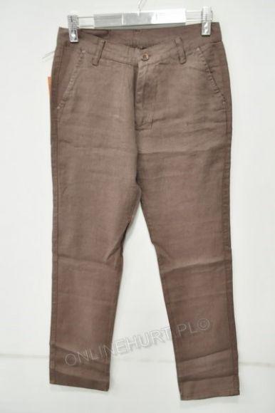 Spodnie Męskie Lniane Artista 496  _E1 (30-36) brąz