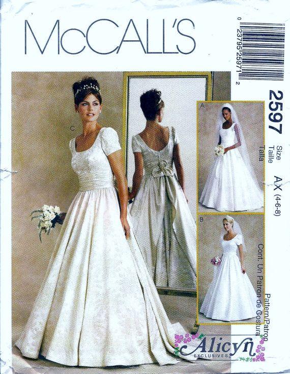 Wedding dress patterns mccalls